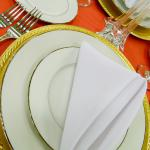 Folded napkins are available in a number of styles.