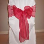 Classic chair covers and organza sashes in a wide number of colors are available.